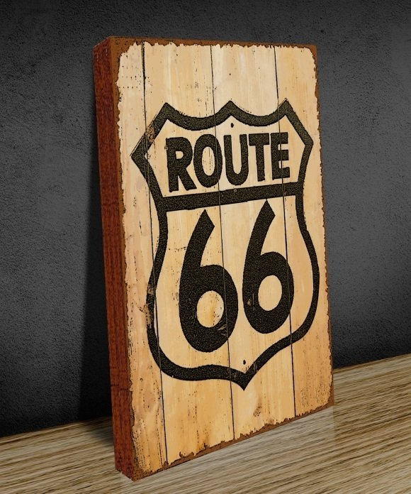 Tela GRANDE 40x60 Route 66 Wood na internet