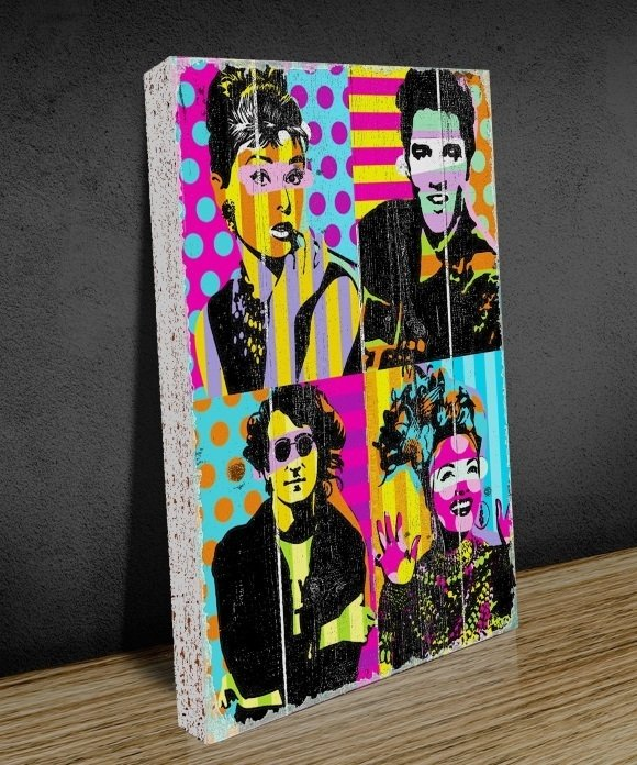 Tela GRANDE 40x60 Stars Pop Art na internet