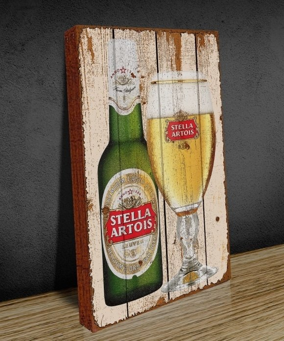 Tela GRANDE 40x60 Stella Bottle Glass na internet