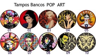 Banquetas POP ART na internet