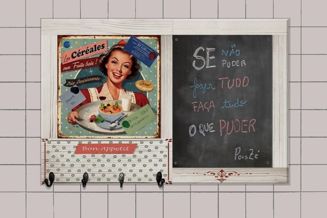 Quadro Negro Ganchos 40x60 - Housewives na internet