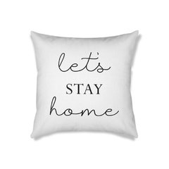 Almofada Frase Let's Stay Home - comprar online