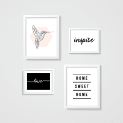 KIT QUADROS LOVE INSPIRE