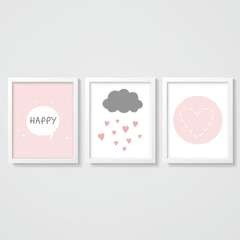 KIT QUADROS HAPPY - comprar online