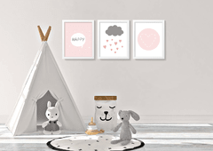 KIT QUADROS HAPPY - Creative Home