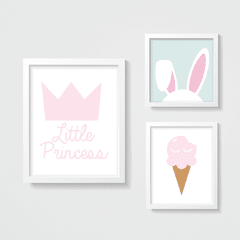 KIT QUADROS LITTLE PRINCESS
