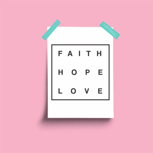 Poster Faith Hope Love