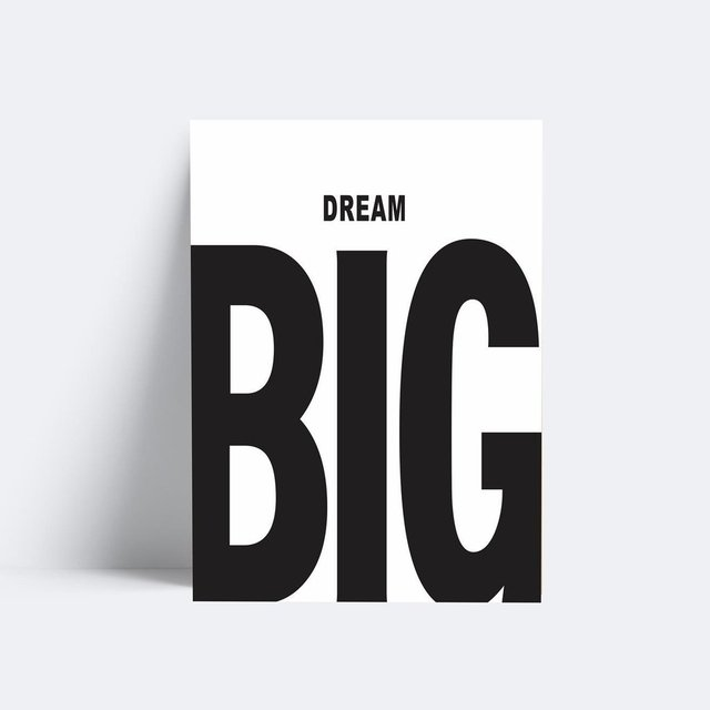 Placa Dream Big