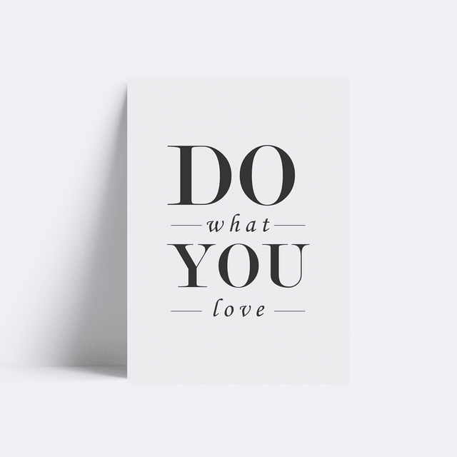 Placa Do what you love - comprar online