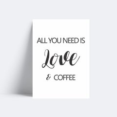 Quadro Poster Love & Coffee na internet