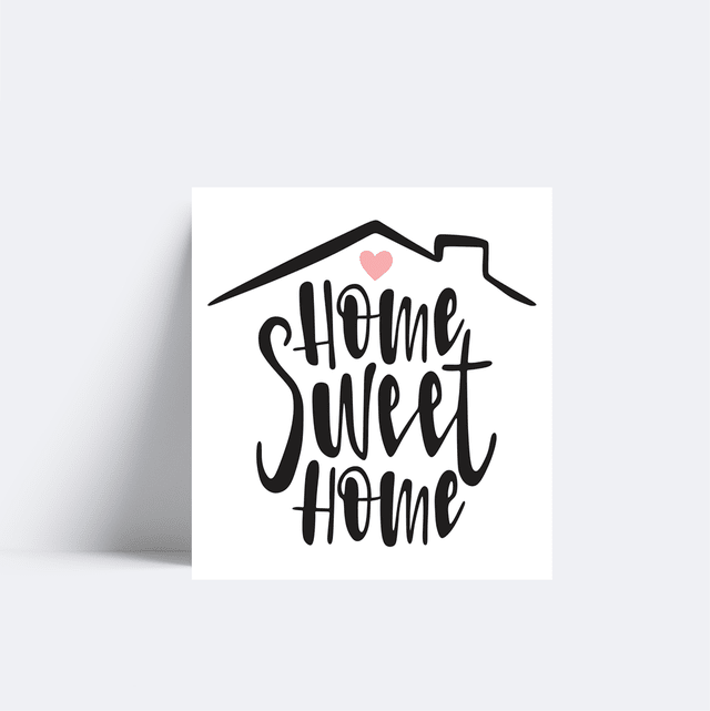 Placa Frase Home Sweet Home