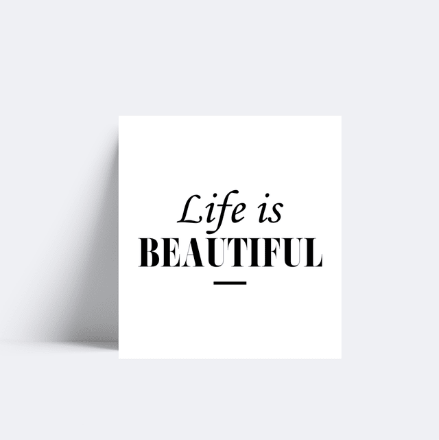 Placa Life is Beautiful