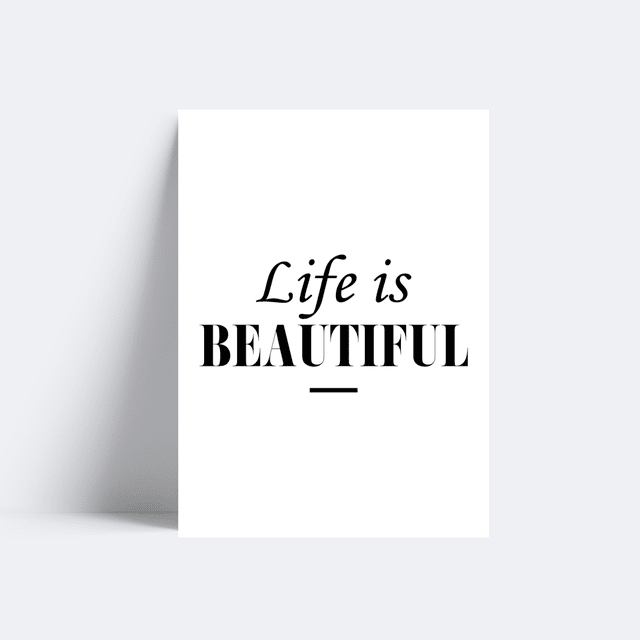 Placa Life is Beautiful - comprar online