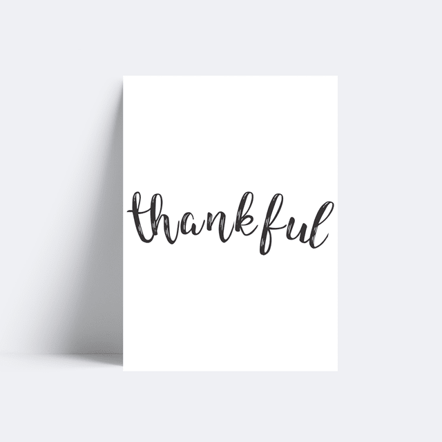 Placa Thankful - comprar online