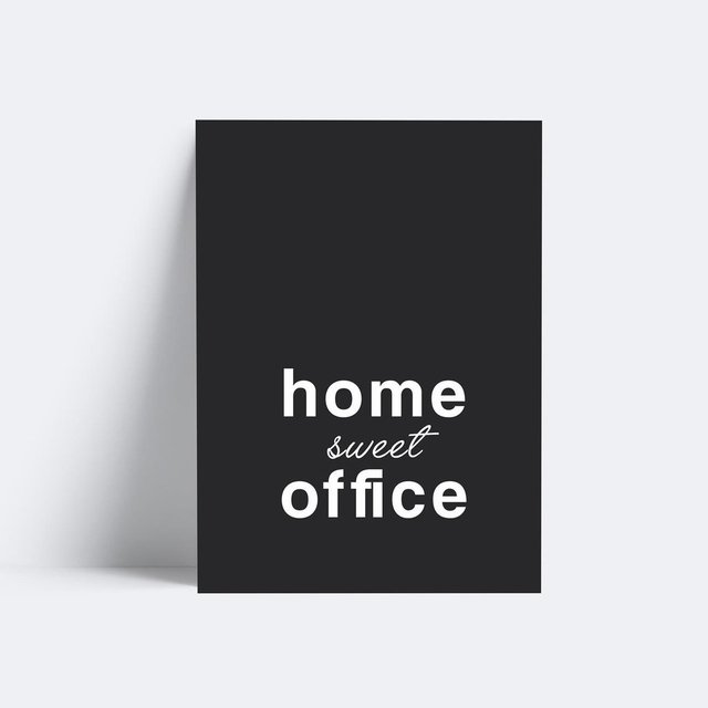 Placa Home Sweet Office