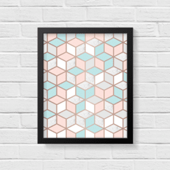 Quadro Poster Geometric Rose Gold - Creative Home