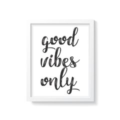 Quadro Poster Good Vibes Only - comprar online