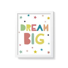 Quadro Poster Dream Big - Colorful - comprar online