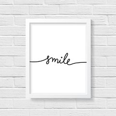 Quadro Poster Smile Calligraphy - comprar online