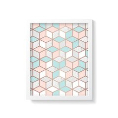 Quadro Poster Geometric Rose Gold