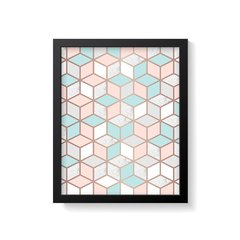 Quadro Poster Geometric Rose Gold na internet