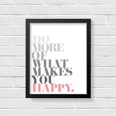 Quadro Poster Happy - Creative Home