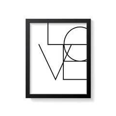 Quadro Poster Love - Creative Home