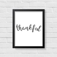 Quadro Poster Thankful - Creative Home