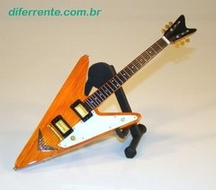 Mini Guitarra Wooden Reverse Flying V