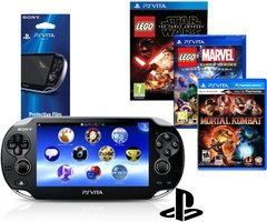Kit PlayStation Vita WiFi + Lego Star Wars The force Awakens + Lego Marvel Super Heroes + Mortal Kombat + Película