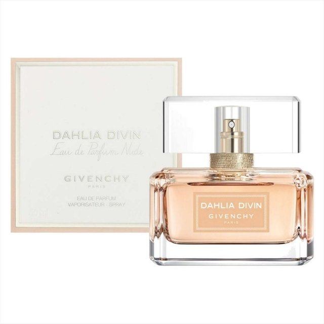 Dahlia Divin Nude Eau de Parfum Givenchy fragrance is a fruity floral fragrance family for Women. This fragrance is new. Dahlia Divin Nude Eau de Parfum was launched in 2017. Top notes are apricot and orange blossom of Corazn notes are sambac jasmine scented osmanthus and pink olive Sampaguita base notes are white musk and white wood. on internet