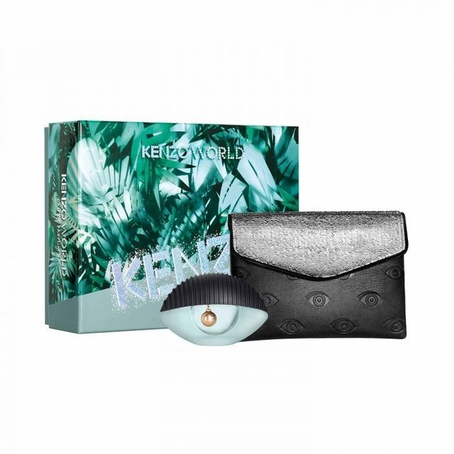SET KENZO WORLD EDP 50 ML + FASHION POUCH