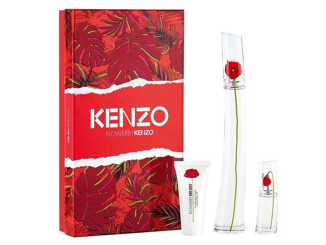 SET FLOWER BY KENZO EDP 100 ML + FLOWER BY KENZO EDP 15 ML + BODY MILK