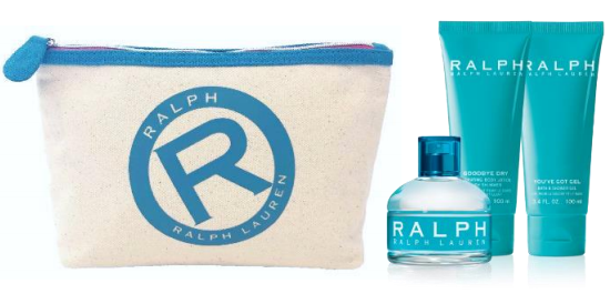 SET RALPH EDT 100 ML + BODY LOTION 100 ML + SHOWER GEL 100 ML + TROUSSE