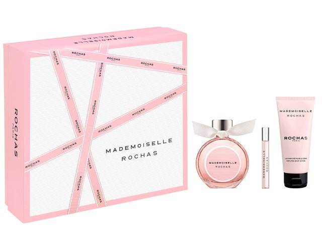 SET MADEMOISELLE ROCHAS EDP 90 ML + EDP 7.5 ML  + BODY LOTION 100 ML