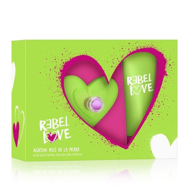 SET REBEL LOVE EDT 80 ML + BODY LOTION TUB 50ML 2018