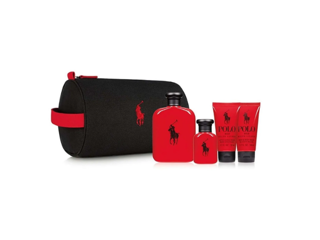 SET POLO RED EDT 125 ML + MINI TALLA EDT 40 ML + AFTERSHAVE 50 ML + SHOWER GEL 50 ML + TROUSSE