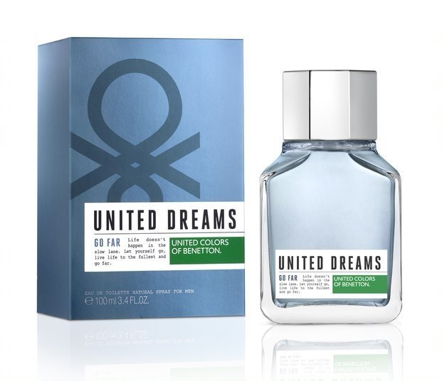 United Dreams Men Go Far Benetton is a fragrance family fragrance for men Aromtica Acutica. The top notes are citron lime green limn and marine notes Corazn notes are lavender blue lotus flower and cardamom base notes are cedar and moss mbar. on internet