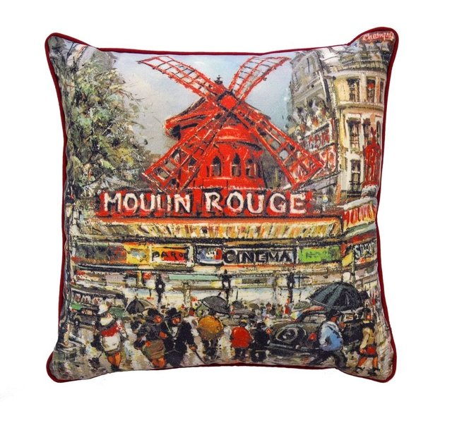 Almofada Estampada Paris Moulin Rouge