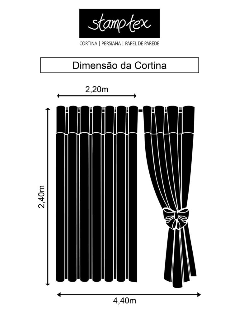 0707e23862e662 Cortina de ilhós em giro inglês listrado na cor bege com forro de blackout  - 4,40x2,40m