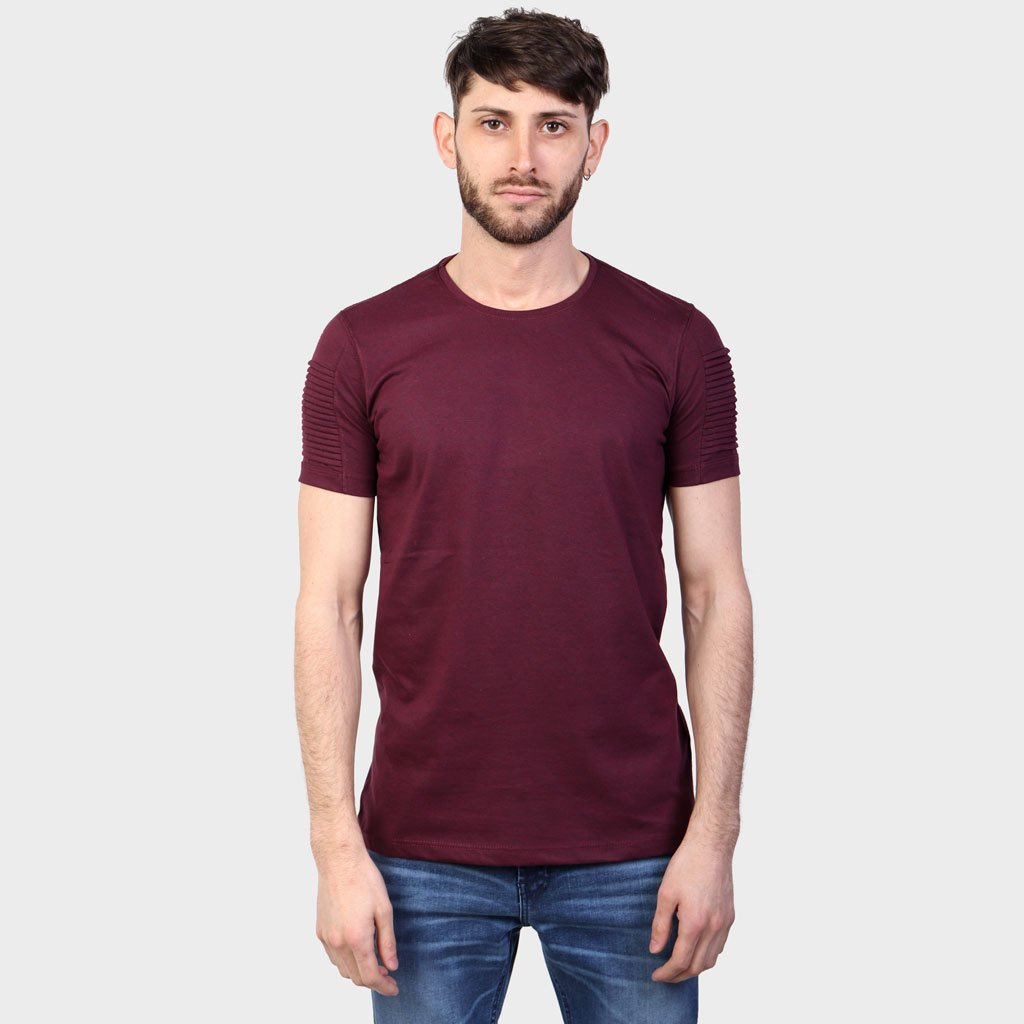 Remera Tuck Alforzas Bordo SS19