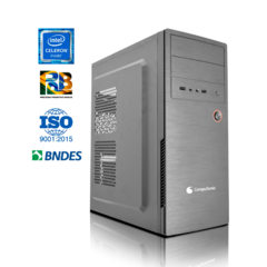 desktop office - Intel Celeron J1800 2.48GhZ, 4GB Ram DDR3, SSD 256 GB, Windows 10, Fonte ATX 200W