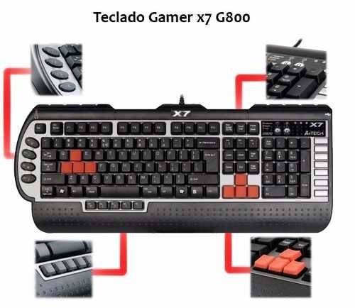 Teclado Gamer  X7 A4 TECH G800V - A cia do Notebook
