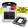 Combo SSD 240GB KINGSTON A400 + ADAPTADOR CADDY