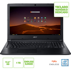 NOTEBOOK ACER 15,6 LED A315-53-343Y / I3-7020U / 4GB / 1TB / LINUX / TEC NUMERICO