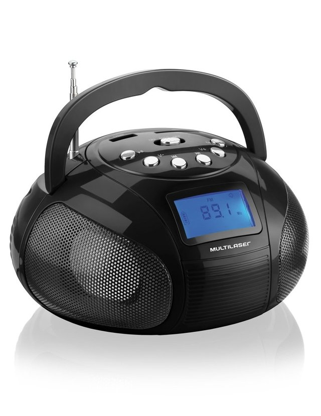Mini Boombox 10W RMS MP3, FM, USB, SD, AUX Preto SP145 - Multilaser - Multilaser