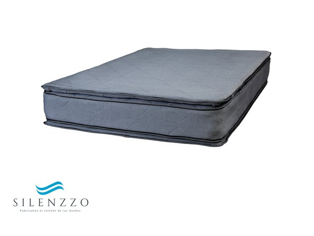Sommier y Colchón 1 plaza - Resortes Doble Pillow - comprar online