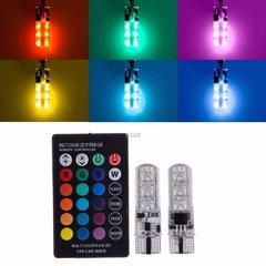 LAMPARA LED T10-6 BLANCO SMD 6 LED + CONTROL 10 COLORES 4 FLASH