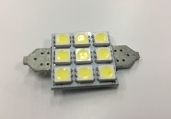 LAMPARA LED SJ-9 39mm BLANCO SMD 5050 CANBUS 9 LED