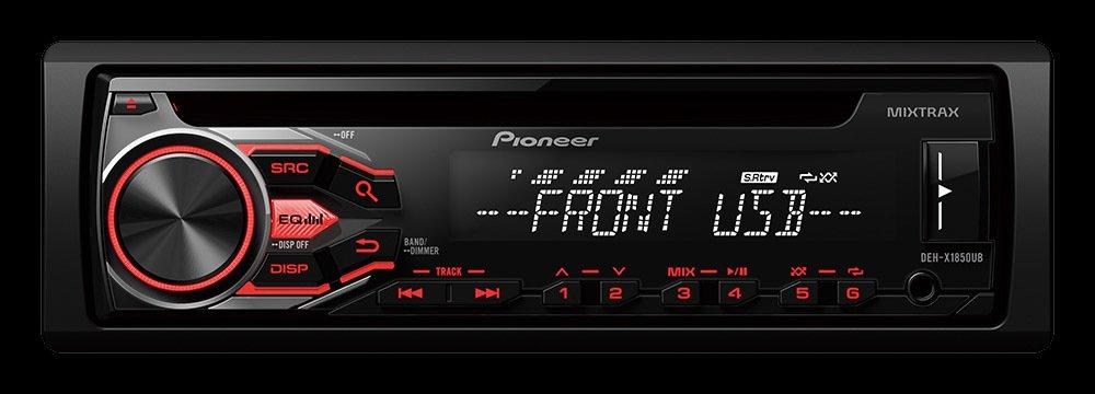 STEREO PIONEER DEH-X1850UB CD-USB-AUX- 2 SAL RCA